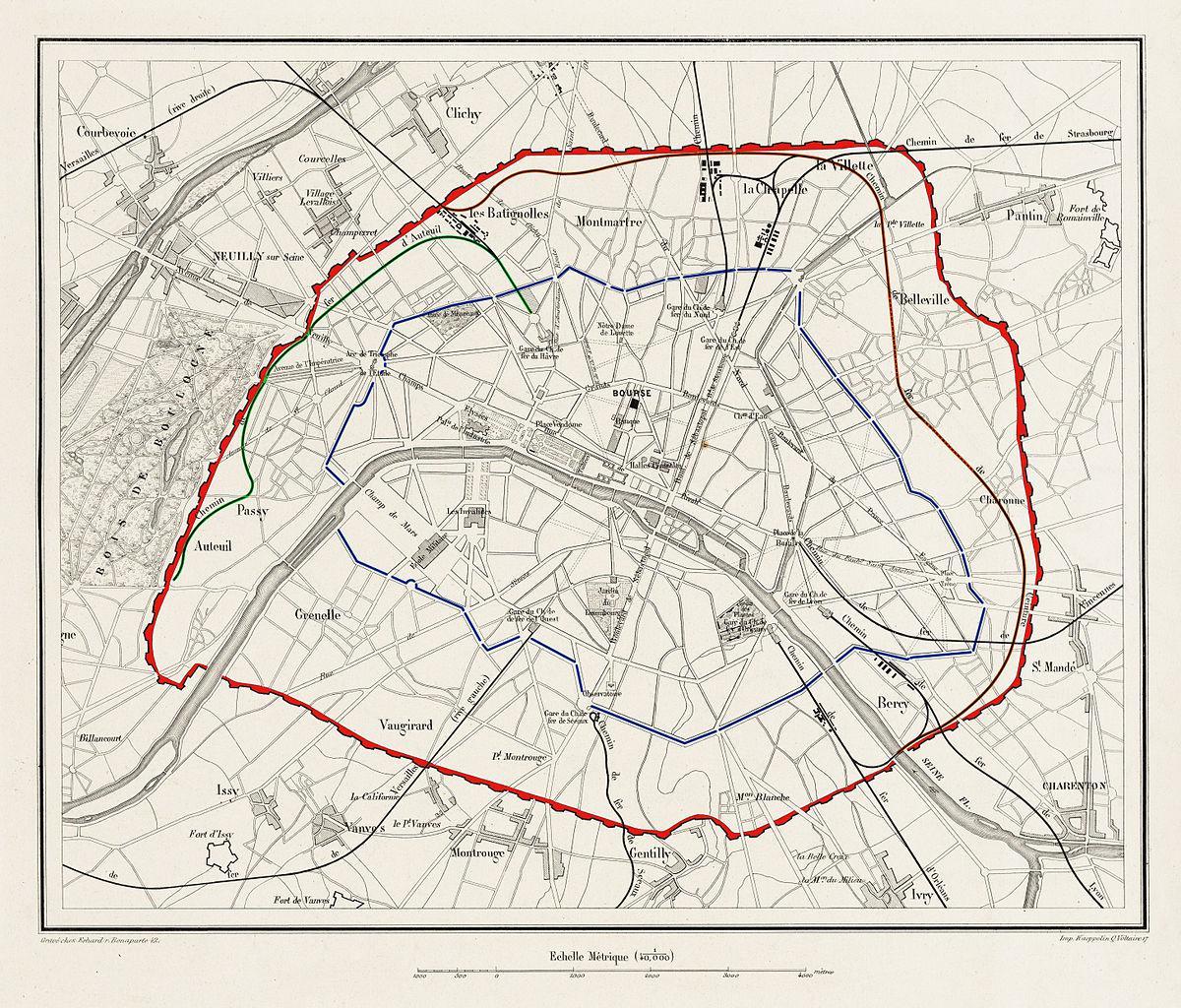 Agrandissement de Paris, la capitale prend ses dimensions actuelles en intégrant les communes limitrophes