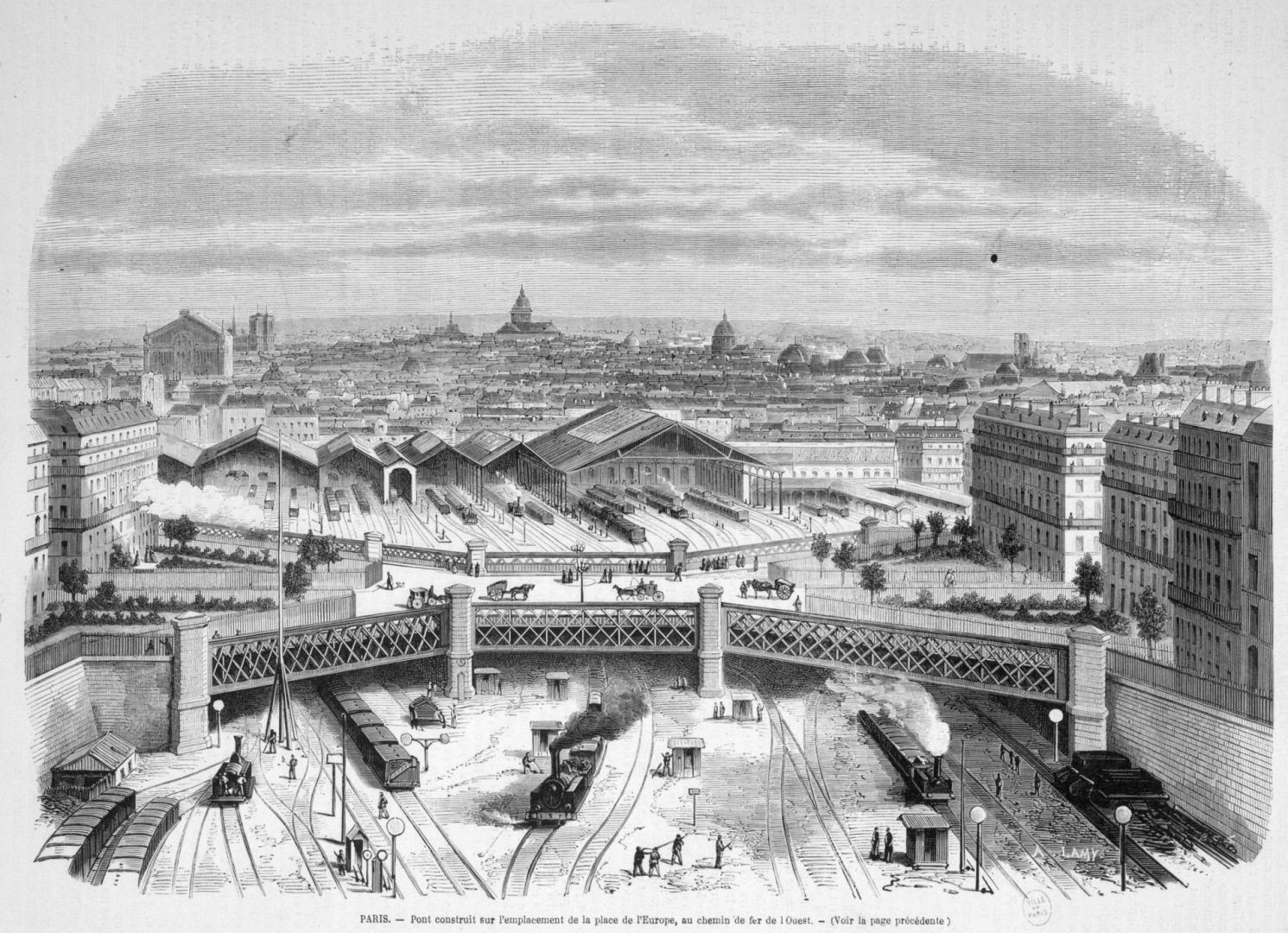 Fin du service voyageur de la Compagnie de l'Ouest (départ gare Saint Lazare)