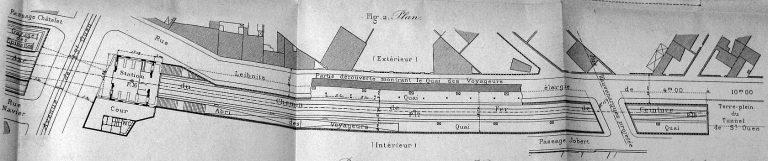 Plan Gare de l'Avenue de SAINT-OUEN