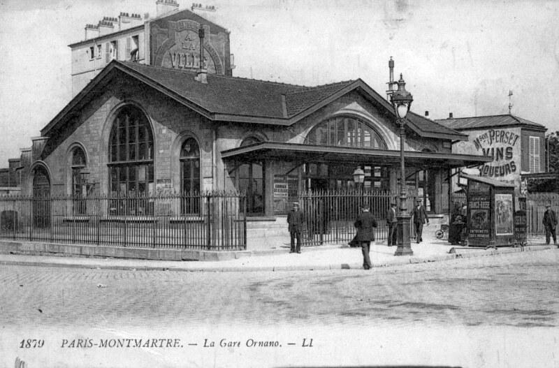 La gare Ornano - Petite ceinture
