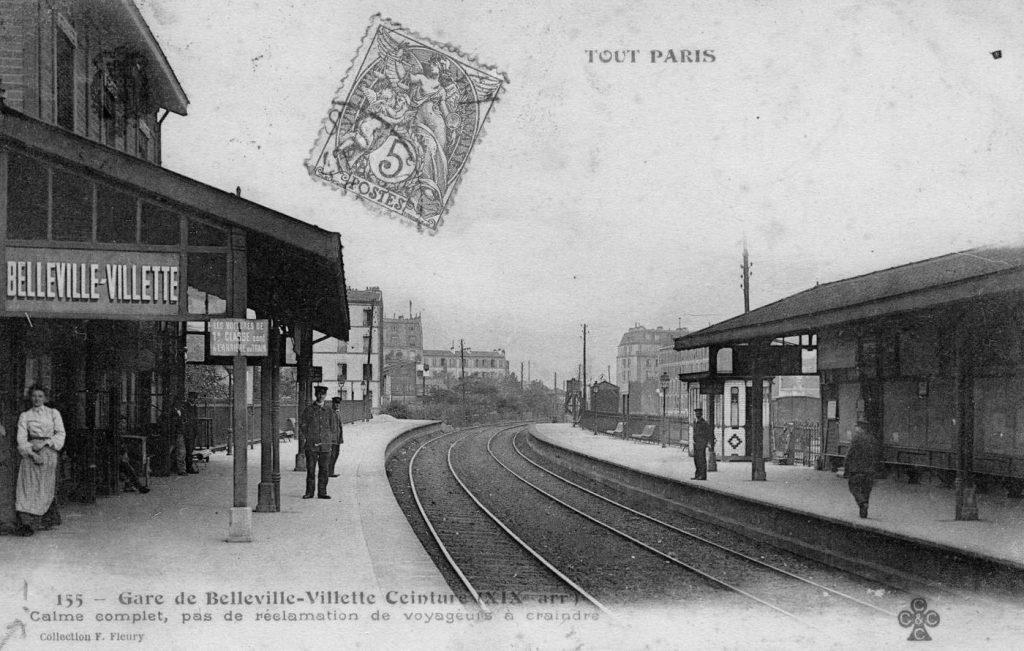 Gare Belleville-Villette Petite Ceinture