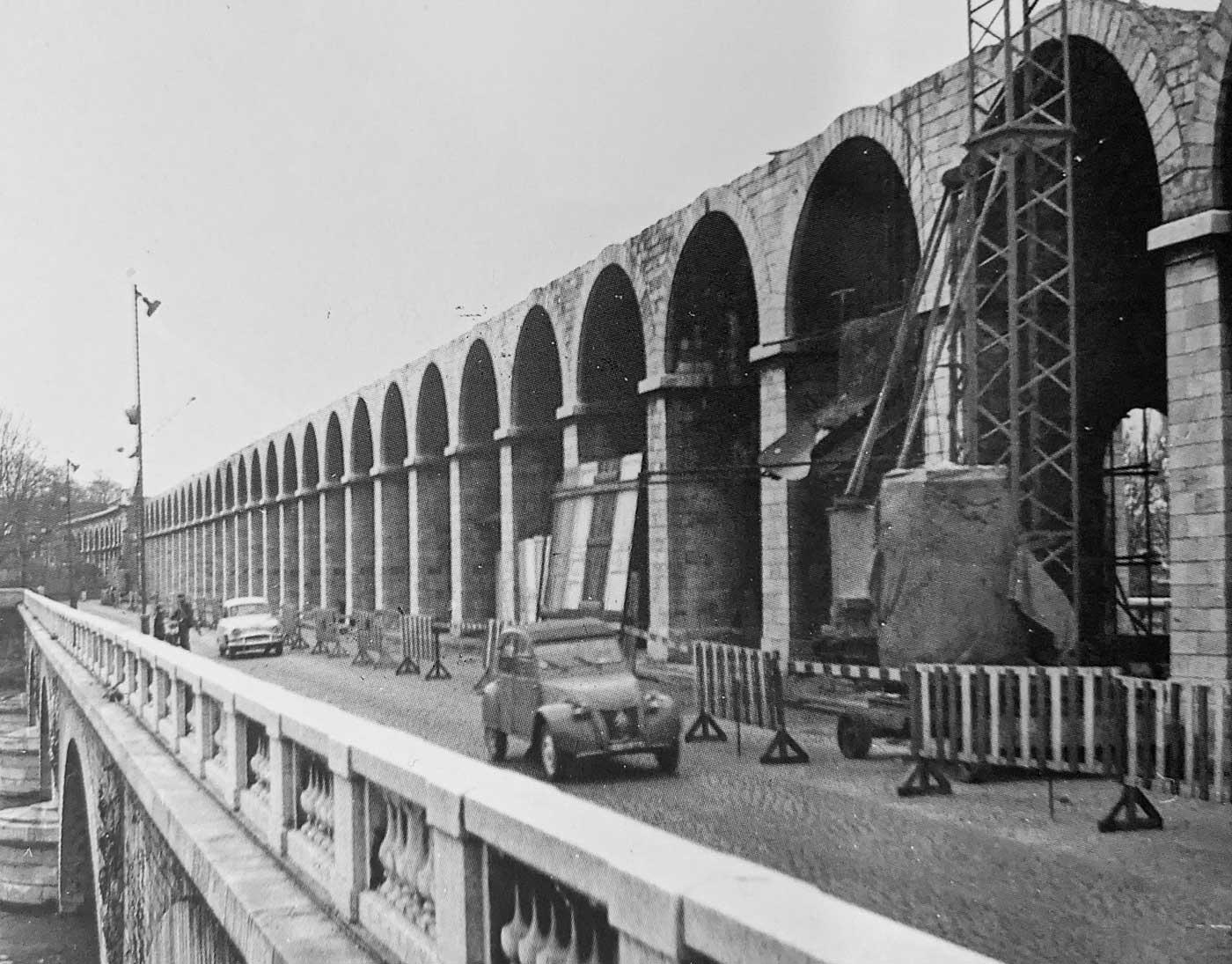 Démolition du viaduc d'Auteuil et de la gare du Point-du-Jour