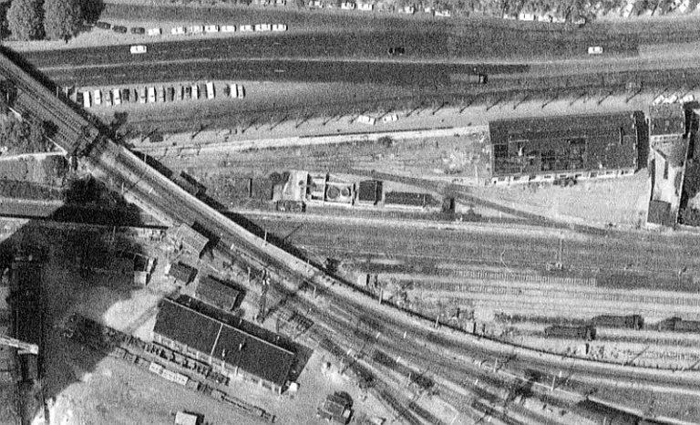 Chapelle Charbon emplacement dépôt locomotives Petite Ceinture 1973