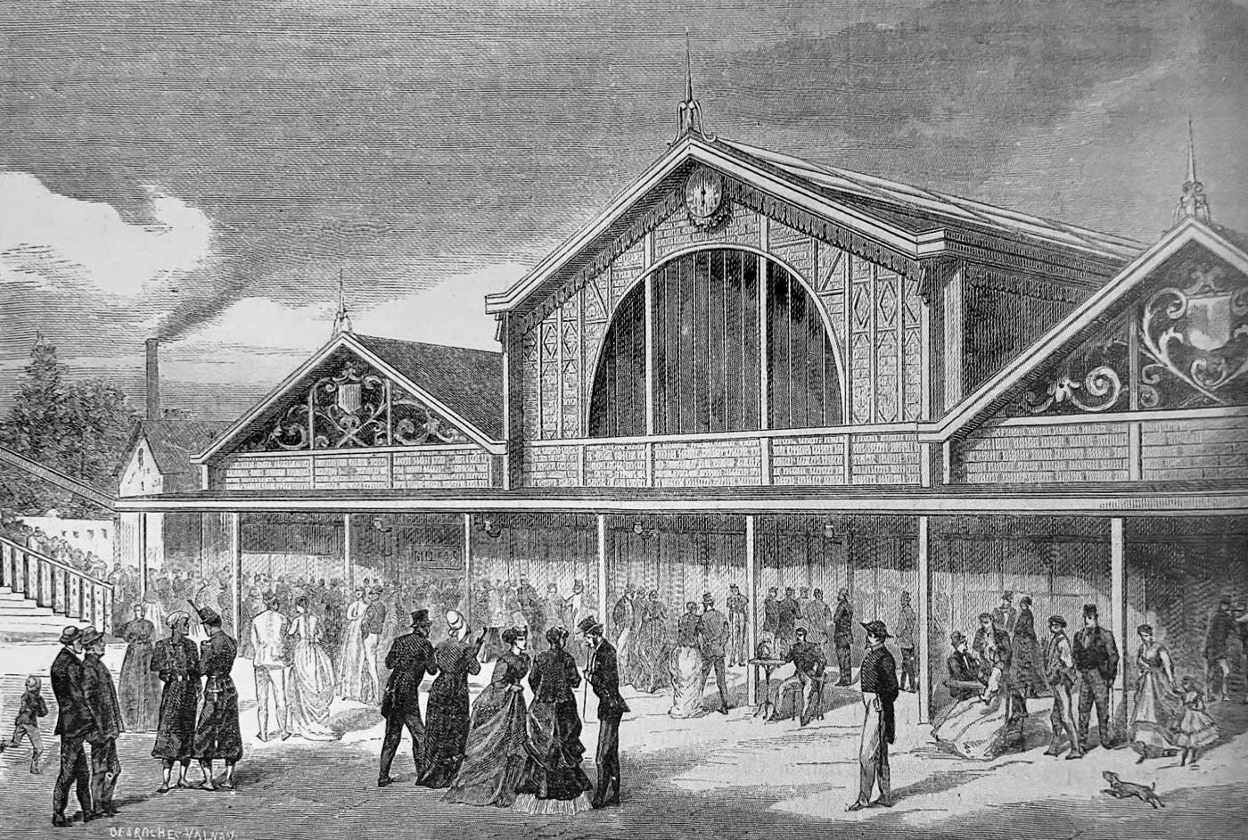 Ouverture du raccordement de Grenelle et de la 1e gare du Champ de Marspour la desserte de l'Exposition universelle