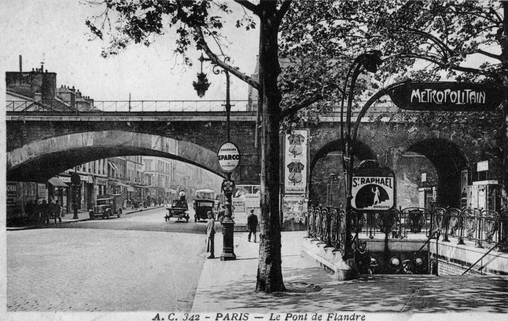 Pont de Flandre Petite Ceinture métro