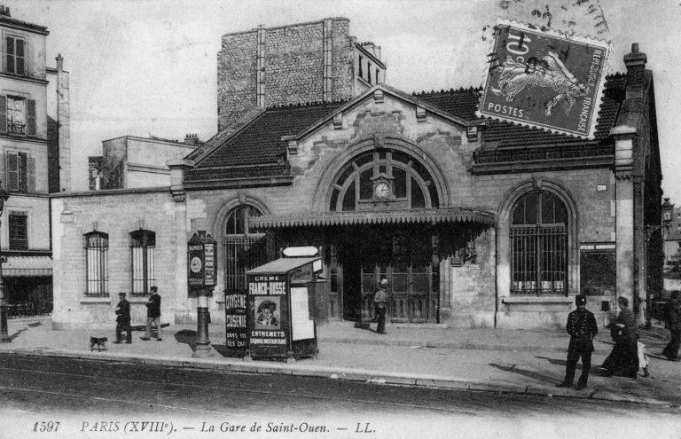 La gare de l'Avenue de Saint-Ouen après le prolongement de la rue Belliard