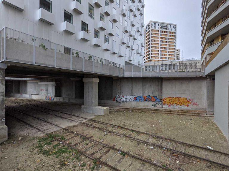 À l'emplacement de la gare, fin 2020