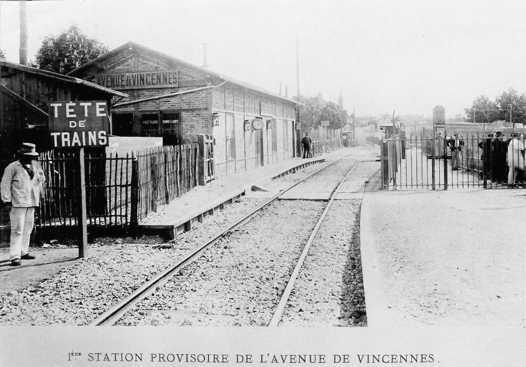 Gare provisoire Avenue de Vincennes Petite Ceinture