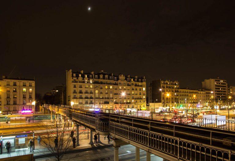 Avenue de Vincennes nuit Petite Ceinture