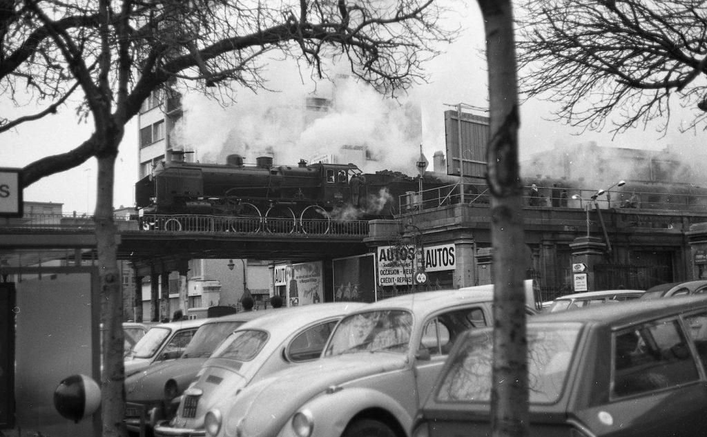 Train spécial 1974 Petite Ceinture Avenue de Vincennes