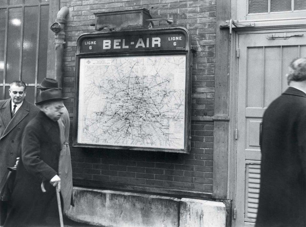 Lors de la réouverture de la station Bel Air, le 7 janvier 1963