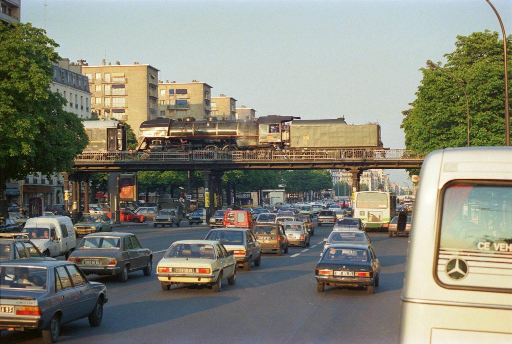 Train vapeur Petite Ceinture Avenue de Vincennes