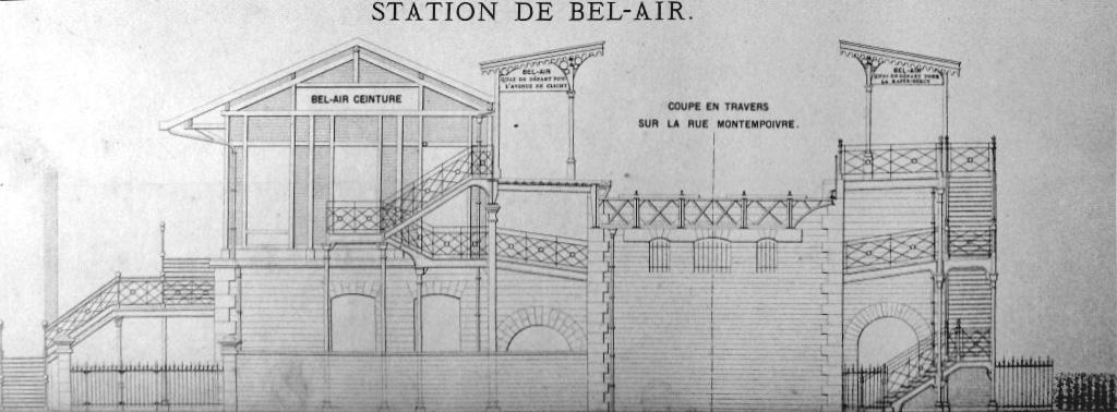 Bel-Air-Ceinture plan en coupe