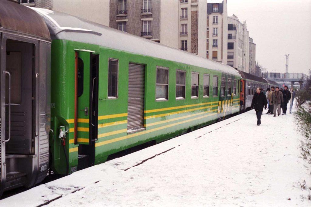 Train spécial Petite Ceinture gare rue Claude Decaen