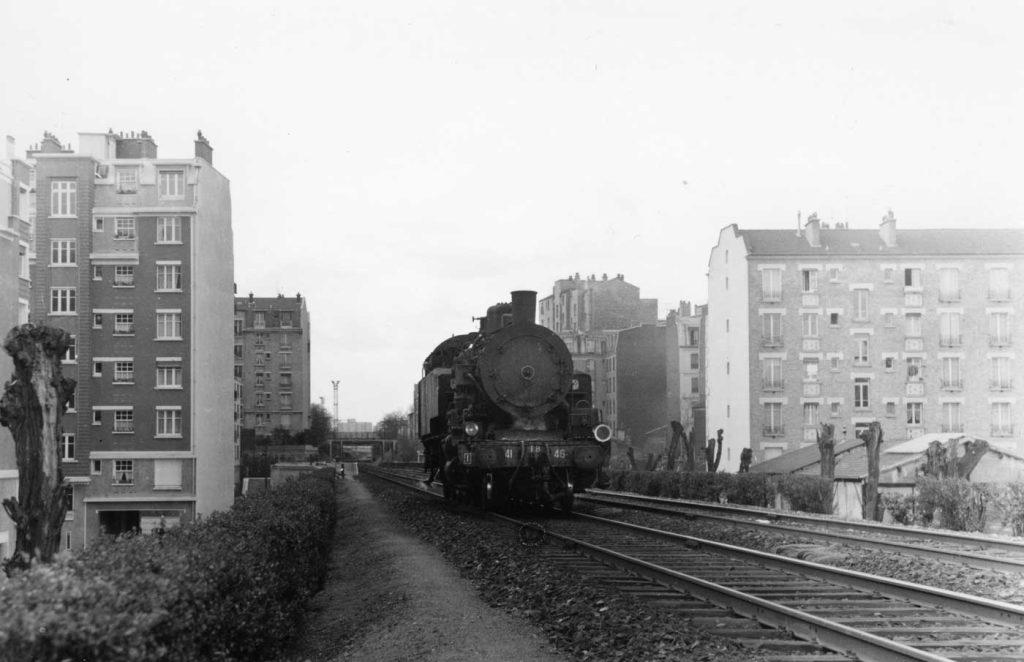 Locomotive 141 TB 46 Petite Ceinture Gare Rue Claude Decaen