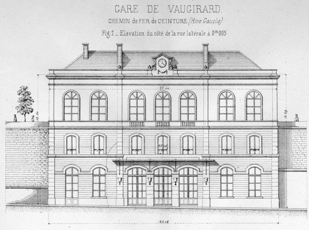 Gare Vaugirard façade rue Petite Ceinture